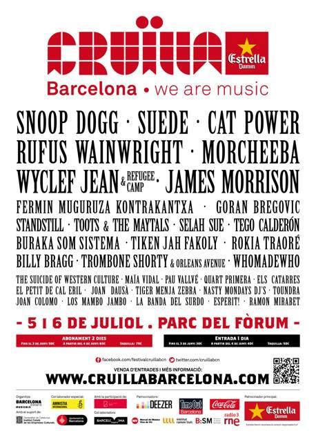 cartel cruïlla 2013