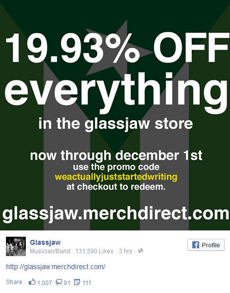 glassjaw new stuff