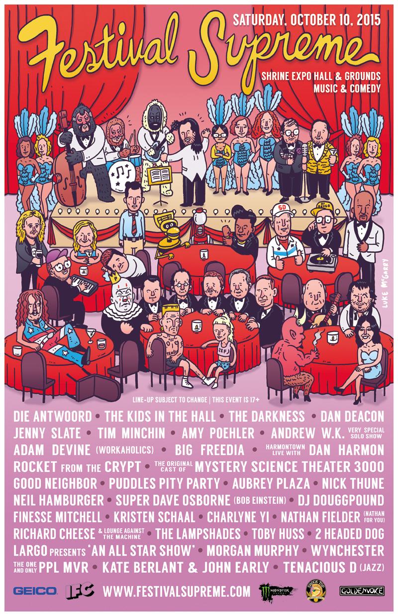 """Tenacious D desvelan el cartel de su """"Festival Supreme"""""""