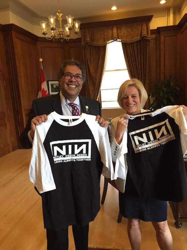 Políticos canadienses presentan una camiseta que usa el logo de Nine Inch Nails
