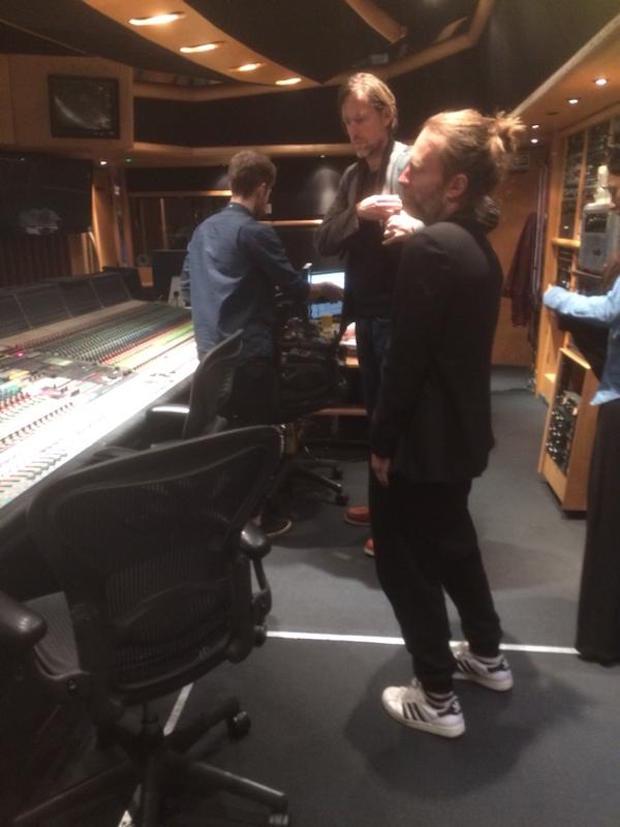 Nuevas fotos de Radiohead en el estudio