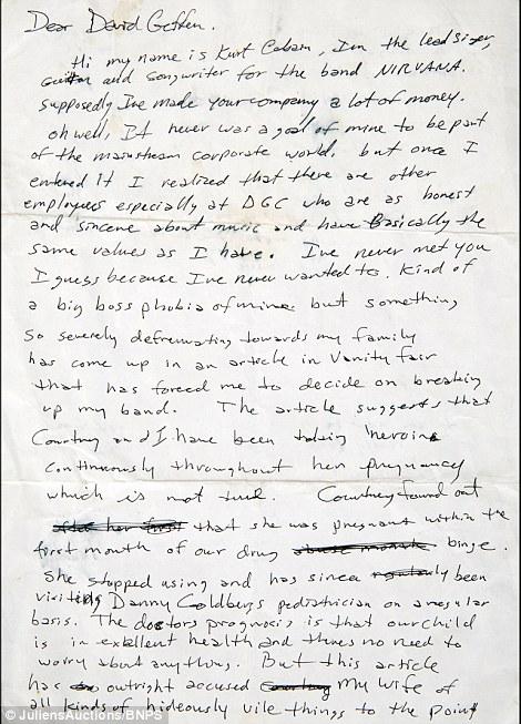 carta cobain 1
