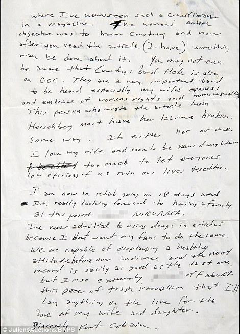carta cobain 2