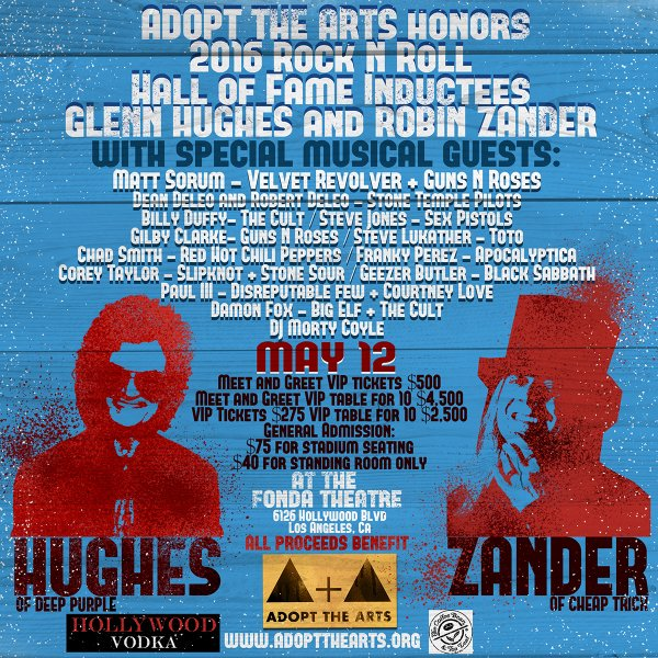 Geezer Butler, Corey Taylor y los hermanos DeLeo participarán en un homenaje a Glenn Hughes y Robin Zander