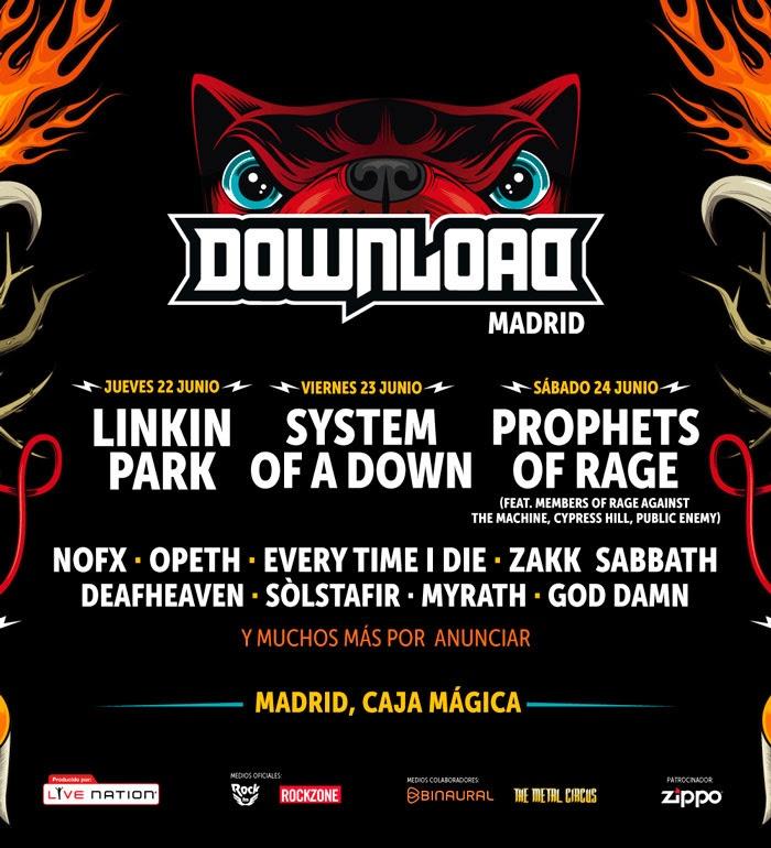 Prophets Of Rage y Linkin Park los otros dos cabezas de cartel del Download Festival Madrid