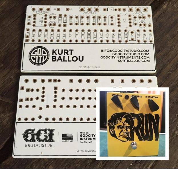 La tarjeta de visita de Kurt Ballou (Converge) sirve para construir un pedal de distorsión