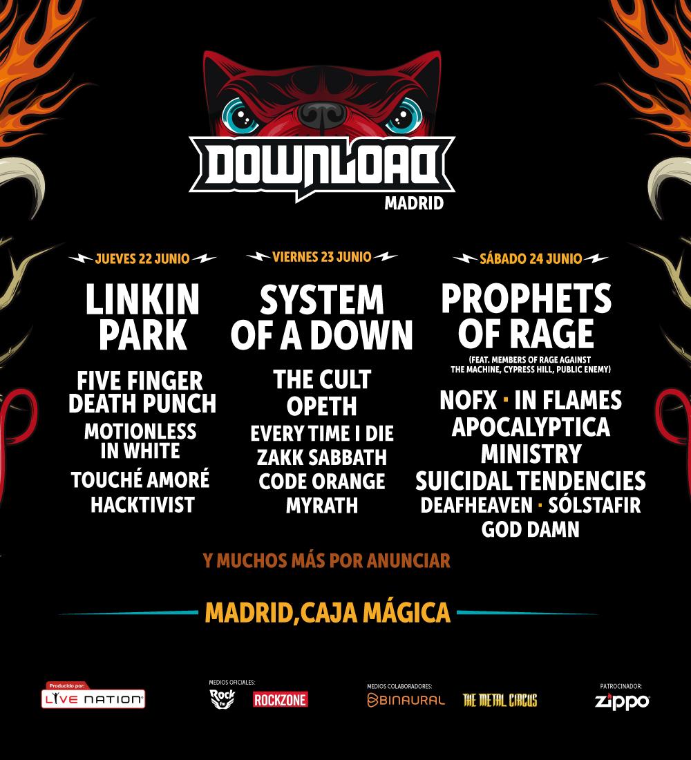 The Cult, Five Finger Death Punch, In Flames, Touché Amoré y Apocalyptica, nuevas confirmaciones del Download Festival Madrid