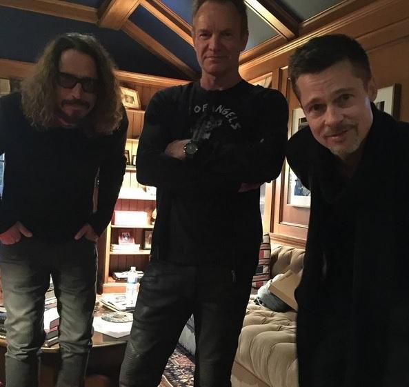 Chris Cornell y Sting tocan juntos en un concierto benéfico