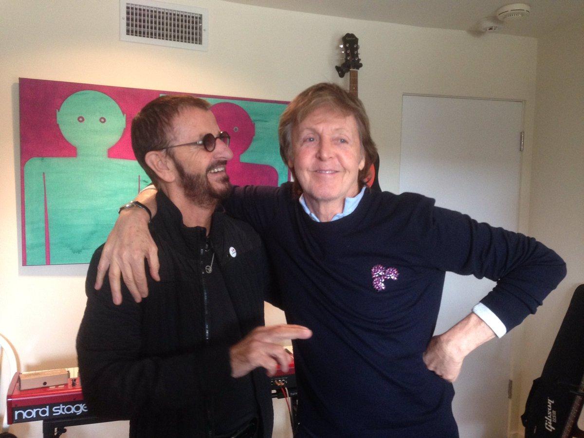 Paul McCartney y Ringo Starr juntos de nuevo en un estudio