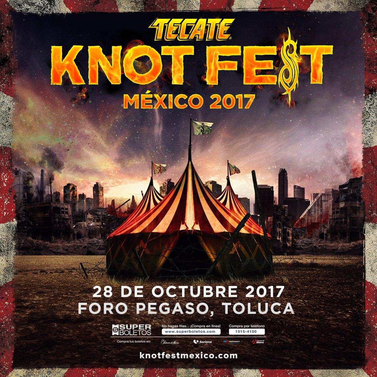 """Slipknot preparan la tercera edición del """"Knotfest Mexico"""""""